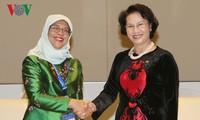 Нгуен Тхи Ким Нган встретилась с главой сингапурского парламента