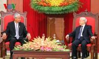 Генсек ЦК КПВ Нгуен Фу Чонг принял президента Мьянмы