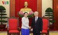 Генсек ЦК КПВ принял председателя Национальной ассамблеи Лаоса