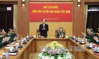 Президент СРВ Чан Дай Куанг провел рабочую встречу с руководством Минобороны страны