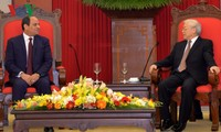 Генсек ЦК КПВ Нгуен Фу Чонг принял президента Египта
