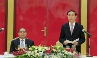 Президент Вьетнама устроил торжественный прием в честь египетского коллеги