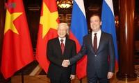 Генсек ЦК Компартии Вьетнама Нгуен Фу Чонг встретился с Дмитрием Медведевым
