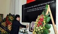 Руководители стран и партий скорбят о кончине президента Вьетнама Чан Дай Куанга