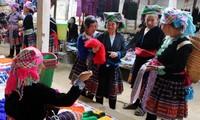 Характерные для горных районов Вьетнама базары в Ханое