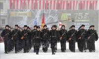 На Дворцовой площади прошел парад в честь 75-й годовщины снятия блокады Ленинграда