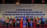 Провинция Куангбинь получила удостоверение о признании «байчой» объектом всемирного наследия