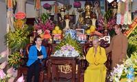 Нгуен Тхи Ким Нган посетила главу Вьетнамской буддийской сангхи