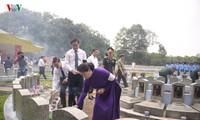 Нгуен Тхи Ким Нган приняла участие в церемонии перезахоронения останков павших фронтовиков в Тэйнине