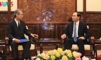 Tran Dai Quang reçoit le président de Kyodo News