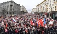 Défilé du Régiment immortel à Moscou