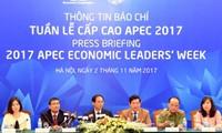 Conférence de presse sur la semaine des dirigeants de l'APEC 2017