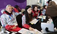 De jeunes volontaires francophones à PyeongChang