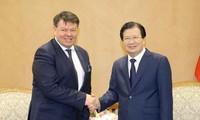 Trinh Dinh Dung reçoit le secrétaire général de l'OMM