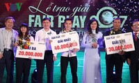 Football : remise du prix Fair Play 2017