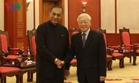 Nguyên Phu Trong reçoit le président du parlement sri-lankais