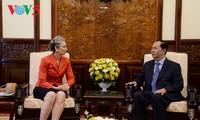 Les ambassadeurs britannique et néerlandais reçus par Trân Dai Quang