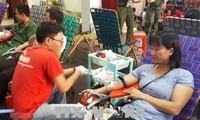 Un bon millier de donneurs de sang pour le programme «Goutte rose de Phu Yên»