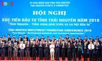 Nguyên Xuân Phuc à la conférence sur la promotion de l'investissement à Thai Nguyên