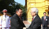 Visite du secrétaire général du Parti et président du Laos au Vietnam