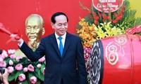 Le président Trân Dai Quang s'adresse aux enseignants et élèves