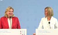 Réunion des ministres des Affaires étrangères de l'UE à Vienne