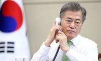 Le président sud-coréen s'entretient avec Trump par téléphone