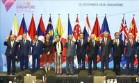 Sommet d'Asie orientale : adoption de cinq déclarations importantes