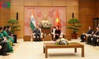 Entrevue entre Nguyên Thi Kim Ngân et le président indien