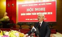 Nguyen Phu Trong à la conférence-bilan de la défense