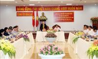 La présidente de l'Assemblée nationale travaille avec les dirigeants de Gia Lai