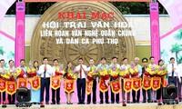 Ouverture du camp culturel et du festival des arts populaires de Phu Tho