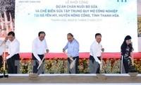 Thanh Hoa: Le Premier ministre inaugure un projet d'élevage bovin