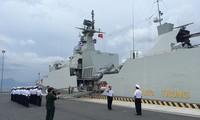 Un bateau de la marine vietnamienne à Singapour