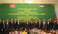 6e consultation politique Vietnam -- Cambodge