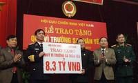 """Hội Cựu chiến binh Việt Nam ủng hộ """"Quỹ vì Trường Sa thân yêu"""""""