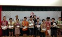 18 nhà vô địch tại Cúp Kim Đồng - Giải cờ vua nhanh Hà nội mở rộng lần thứ 7