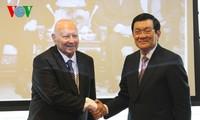 Tiếp tục các hoạt động của Chủ tịch nước Trương Tấn Sang tại Cộng hòa Séc