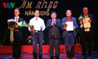 Một số tác phẩm đoạt Giải thưởng Hội Nhạc sĩ Việt Nam năm 2015