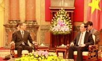 Chủ tịch nước Trần Đại Quang tiếp Đại sứ Liên bang Nga và Nhật Bản