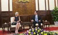 Chủ tịch nước Trần Đại Quang tiếp Đại sứ Đan Mạch Charlotte Laursen