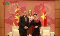 Chủ tịch Quốc hội Nguyễn Thị Kim Ngân hội kiến Thủ tướng Sri Lanka