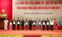 Vinh danh 790 gương điển hình tiên tiến, người tốt, việc tốt và 10 công dân ưu tú Thủ đô năm 2017