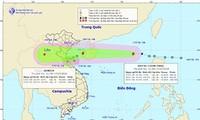 Bão Sơn Tinh - Bão số 3 cách bờ biển Hải Phòng-Hà Tĩnh khoảng 270km