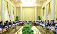 Chủ tịch nước Trần Đại Quang tiếp đoàn Ủy ban Kinh tế Nhật - Việt Keidanren