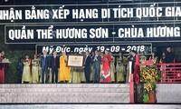 Lễ đón bằng Di tích quốc gia đặc biệt quần thể Hương Sơn