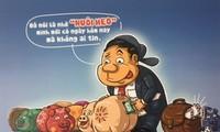 Phòng chống tham nhũng sâu cay trong biếm họa