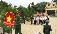 สมเด็จฮุนเซนนายกรัฐมนตรีกัมพูชาเยือนเขตโบราณสถานทางประวัติศาสตร์กองพลน้อย 125 ในจังหวัดด่งนาย
