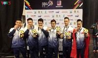 เวียดนามกำลังอยู่อันดับสองในตารางเหรียญรางวัลในการแข่งขันซีเกมส์ครั้งที่ 29
