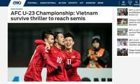 สื่อต่างประเทศชื่นชมทีมฟุตบอลยู-23 ของเวียดนามในการแข่งขันฟุตบอลชิงแชมป์เอเชีย